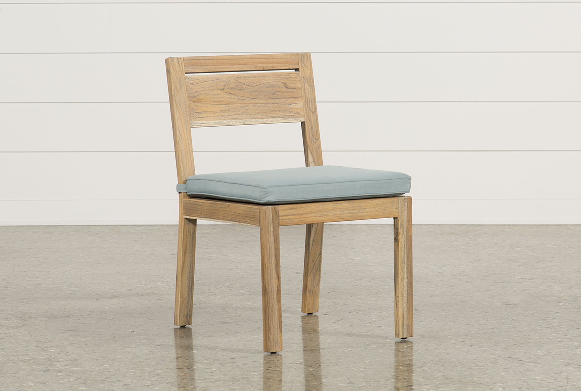 Outdoor Antigua Teak Armless Dining Chair Living Spaces