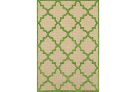 22X39 Outdoor Rug-Lime Quatrefoil