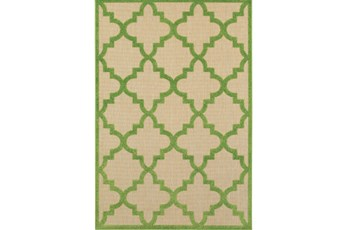 79X114 Outdoor Rug-Lime Quatrefoil
