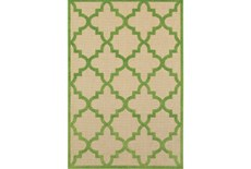118X154 Outdoor Rug-Lime Quatrefoil