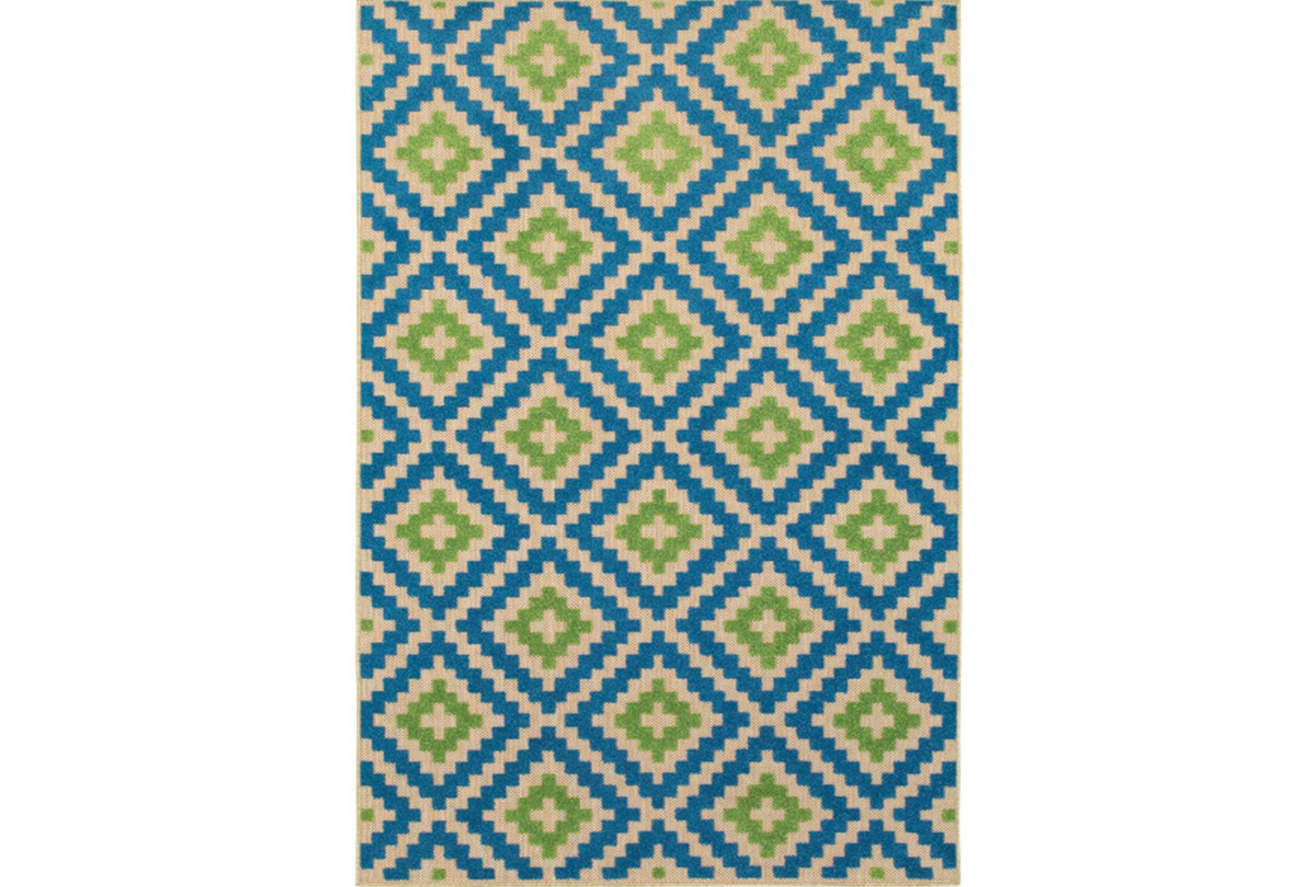 94x130 Outdoor Rug Lime And Blue Birds Eye Qty 1 Has Been Successfully Added To Your Cart