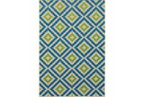 118X154 Outdoor Rug-Lime And Blue Birds Eye - Signature
