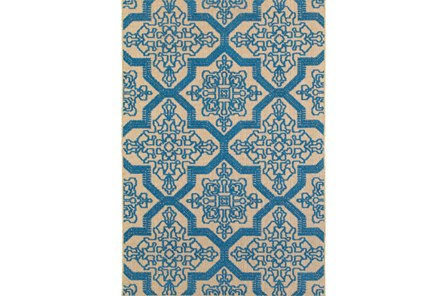 22X39 Outdoor Rug-Blue Aztec - Main