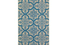 94X130 Outdoor Rug-Blue Aztec
