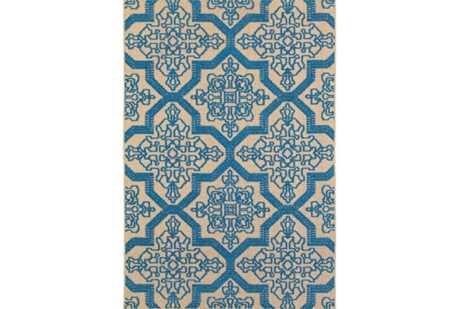 118X154 Outdoor Rug-Blue Aztec - 360