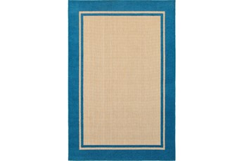22X39 Outdoor Rug-Blue Double Border