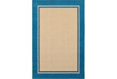 63X90 Outdoor Rug-Blue Double Border