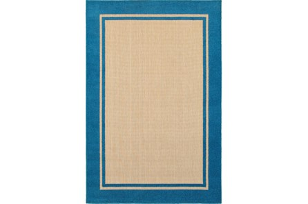 63X90 Outdoor Rug-Blue Double Border - Main