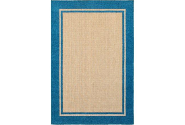 63X90 Outdoor Rug-Blue Double Border - 360