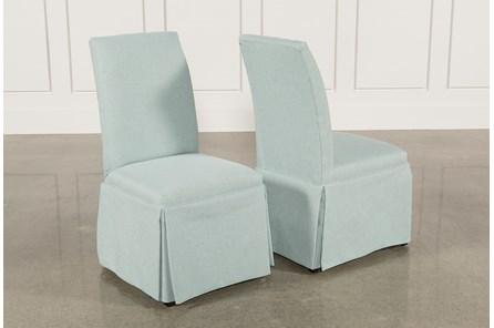 Garten Aqua Skirted Side Chairs Set Of 2 - Main
