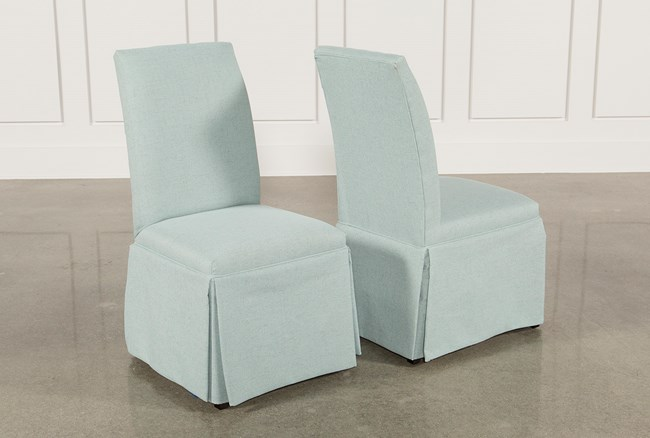 Garten Aqua Skirted Side Chairs Set Of 2 - 360