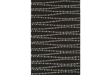 96X120 Rug-Black Strands