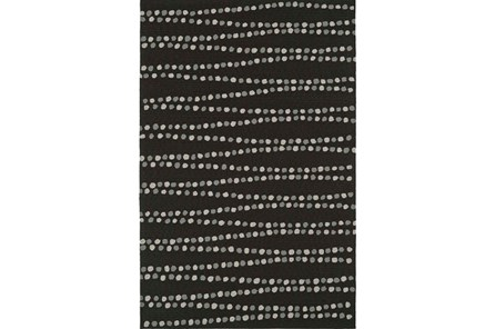 96X120 Rug-Black Strands - Main