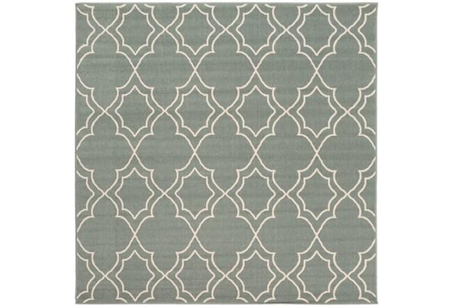 87x87 Square Rug-Sage Latticework - 360