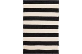 24X36 Rug-Black & White Cabana Stripe