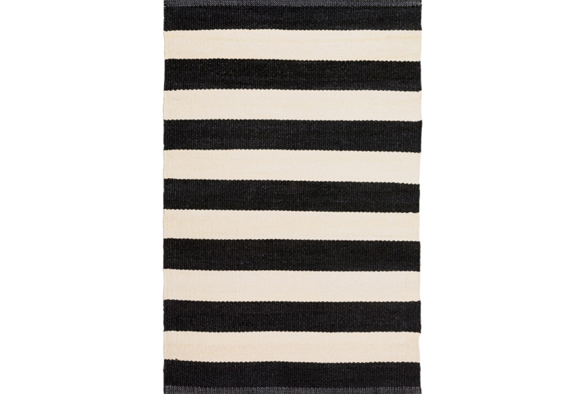 60X96 Outdoor Rug-Black & White Cabana