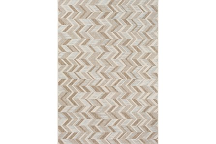 63X91 Outdoor Rug-Baltic Blue Herrringbone - Main