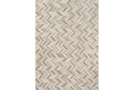 95X130 Outdoor Rug-Baltic Blue Herrringbone