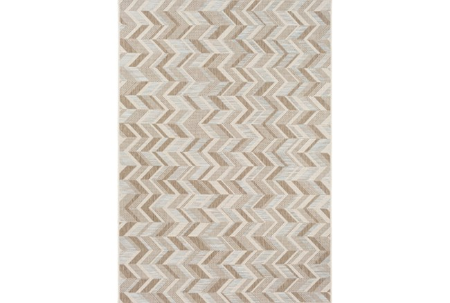 95X130 Outdoor Rug-Baltic Blue Herrringbone - 360