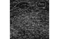 Picture-Vintage Map B & W Paris