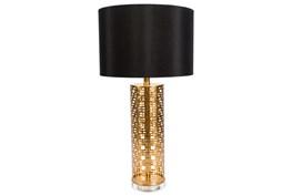 Table Lamp-Gold Greek Key
