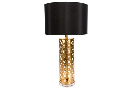 Table Lamp-Gold Greek Key
