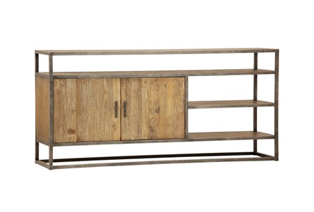 Light Rustic Black 2-Door Sideboard