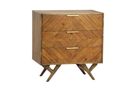 Natural Pine Wood 3-Drawer Dresser - Main