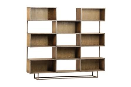 Brown Burnt Oak Wood 71 Inch Bookcase - Main