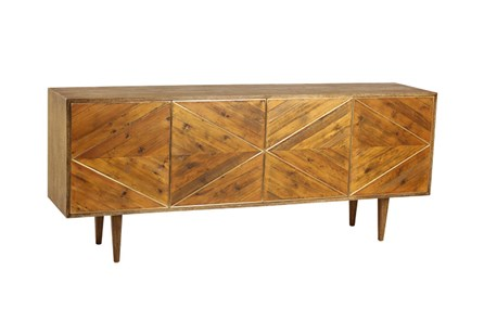 Burnt Oak Bleached Pine Sideboard - Main