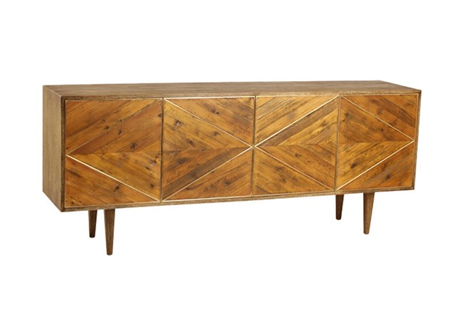 Burnt Oak Bleached Pine Sideboard - 360