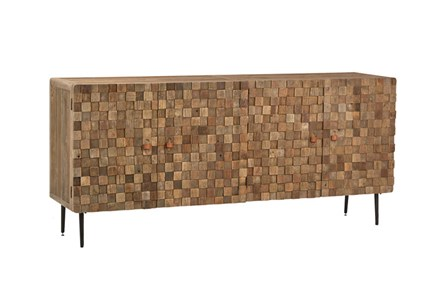 Recycled Elm Iron Sideboard - Main