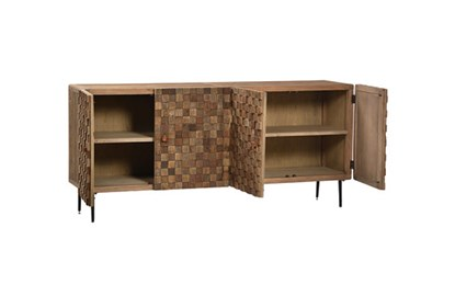 Recycled Elm Iron Sideboard