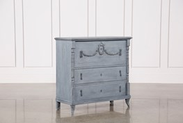 White & Blue Recycled Pine Dresser