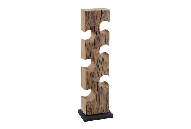 Sanded Wood Bottle Holder - 360
