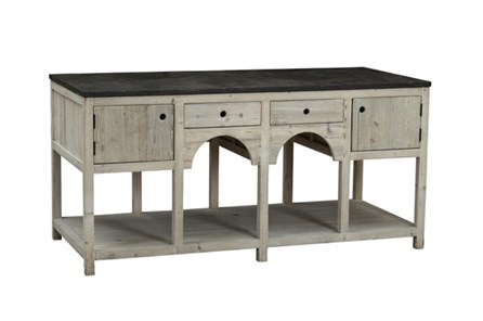 Grey White South Pine 2-Drawer/2-Door Island - Main
