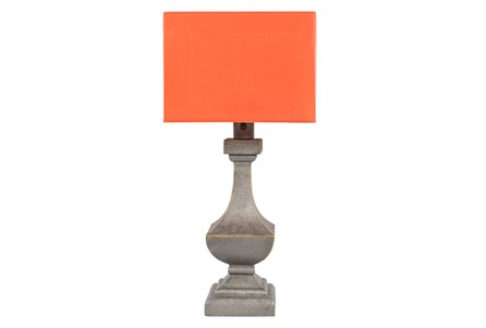 Outdoor Table Lamp-Architectural Column Orange