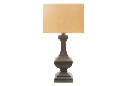 Outdoor Table Lamp-Architectural Column Yellow