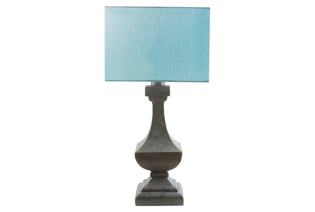Outdoor Table Lamp-Architectural Column Aqua - 360