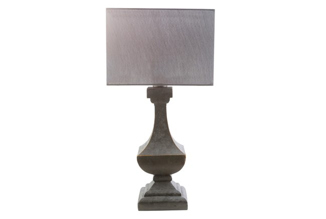 Outdoor Table Lamp-Architectural Column Grey - 360