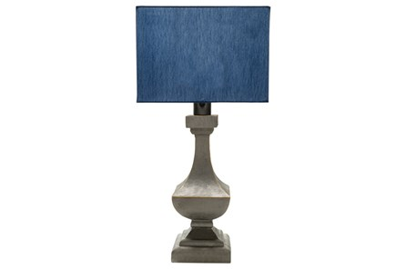 Outdoor Table Lamp-Architectural Column Blue