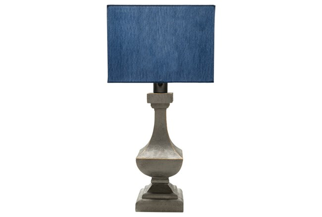 Outdoor Table Lamp-Architectural Column Blue - 360