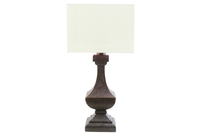 Outdoor Table Lamp-Architectural Column White - 360