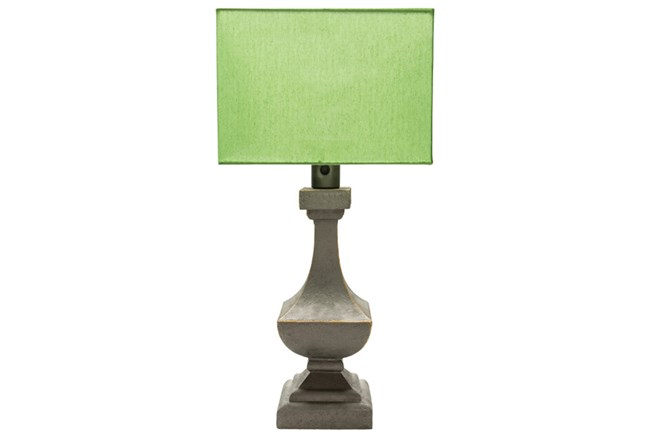 Outdoor Table Lamp-Architectural Column Green - 360