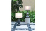 Outdoor Table Lamp-Island Woven Ivory - Room