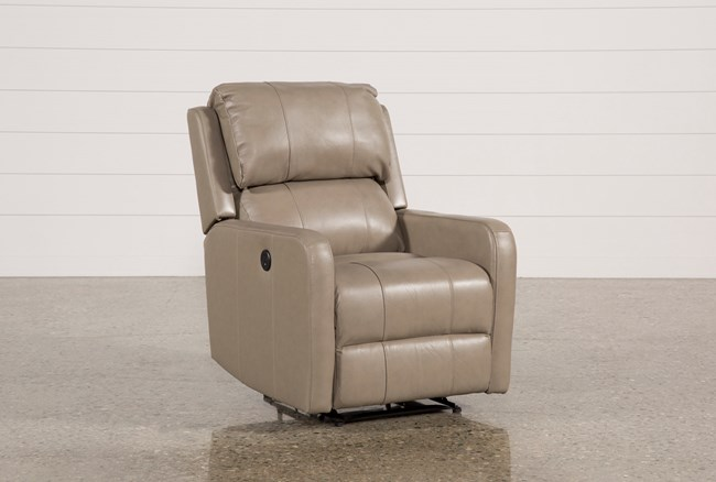 Stanford Leather Mushroom Power Wallaway Recliner - 360