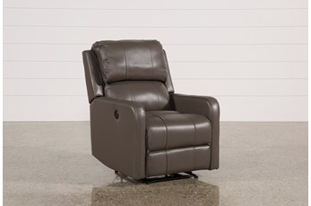 Stanford Leather Grey Power Wallaway Recliner