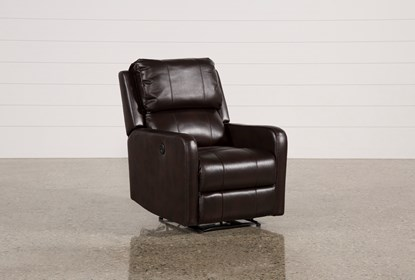 Brilliant Stanford Leather Brown Power Wallaway Recliner Bralicious Painted Fabric Chair Ideas Braliciousco