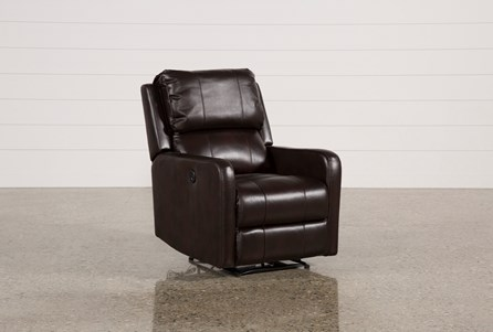 Stanford Leather Brown Power Wallaway Recliner