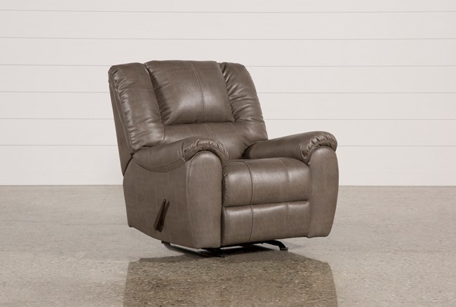 Spiro Grey Rocker Recliner - 360